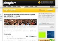 Internet companies with few employees but millions of users