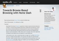 Towards Browse-Based Browsing with Home Dash