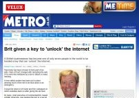 Brit given a key to 'unlock' the internet