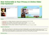Security and Privacy in online video chat systems