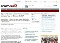 Egypt's Muslims attend Coptic Christmas mass, serving as « human shields »