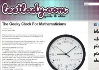 The Geeky Clock For Mathematicians