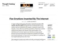 Five Emotions Invented By The Internet