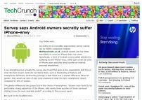 Survey says Android owners secretly suffer iPhone-envy