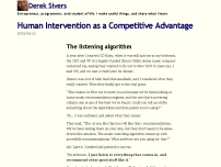 Human Intervention as a Competitive Advantage