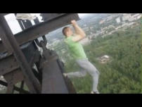 Russians Working Out On A Bridge