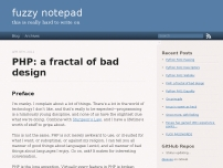 PHP: a fractal of bad design