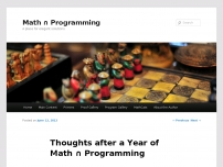 Thoughts after a Year of Math Programming