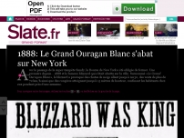 1888: Le Grand Ouragan Blanc s'abat sur New York