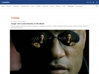 Google isn't a social network; it's The Matrix