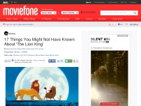 17 Things You Might Not Have Known About 'The Lion King'