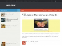 10 Coolest Mathematics Results