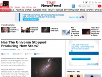 Has The Universe Stopped Producing New Stars?