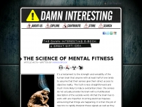 The Science of Mental Fitness • Damn Interesting