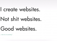 Not shit web design