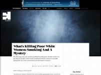 What's Killing Poor White Women: Smoking And A Mystery