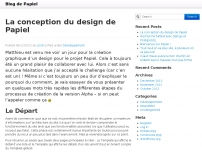 La conception du design de Papiel