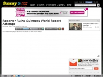 Reporter Ruins Guinness World Record Attempt