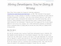 Hiring Developers: You're Doing It Wrong