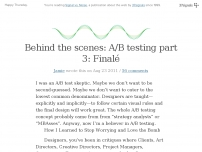 Behind the scenes: A/B testing