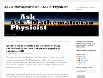 Can we use physics to calculate stuff?