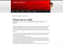Ploum.net en J2EE - Where is Ploum?