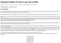 Conway's Game of Life in one line of APL