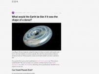 What would the Earth be like if it was the shape of a donut?