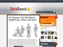 Poseable 3D Human CAD models for SolidWorks