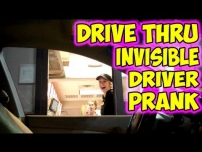 Drive Thru Invisible Driver Prank