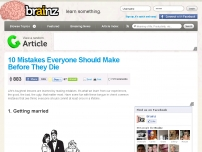 10 Mistakes Everyone Should Make Before They Die