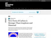 New Form of Carbon is Stronger Than Graphene and Diamond