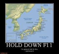 Hold down F11