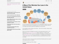 A Map of the Weirdest Sex Laws in the United States