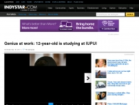 12-year-old is studying at IUPUI